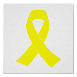Support for Military Forces - Yellow Ribbon Poster
