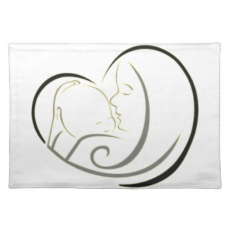 """Support for plate """"Love of mother """" Cloth Place Mat"""