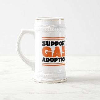 Support Gay Adoption Beer Stein