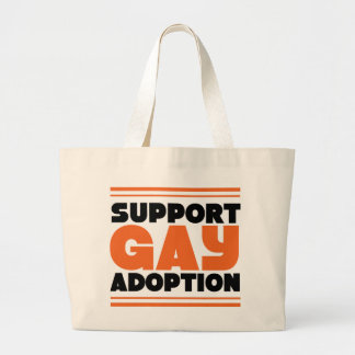 Support Gay Adoption Canvas Bags