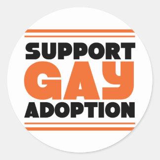 Support Gay Adoption Classic Round Sticker