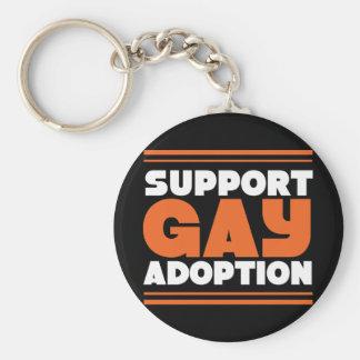 Support Gay Adoption Keychain