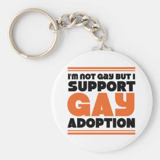 Support Gay Adoption Basic Round Button Keychain