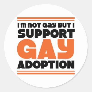 Support Gay Adoption Round Sticker