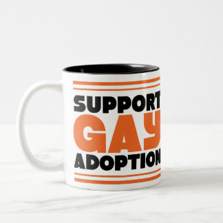 Support Gay Adoption Two-Tone Coffee Mug