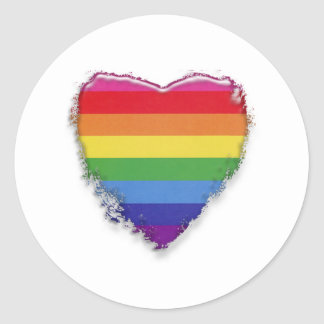 Support Gay Marriage Classic Round Sticker