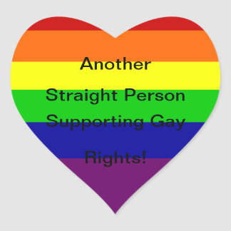 Support Gay Rights Heart Sticker