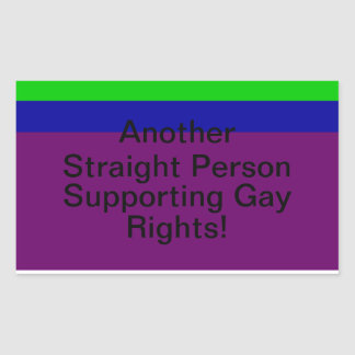Support Gay Rights Rectangular Sticker