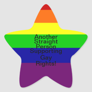 Support Gay Rights Star Sticker
