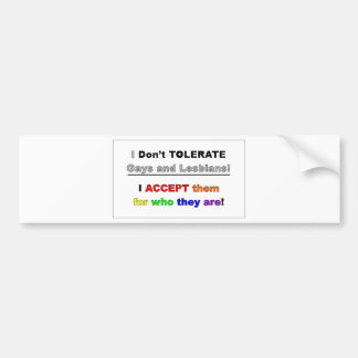 Support Gays and Lesbians Bumper Sticker
