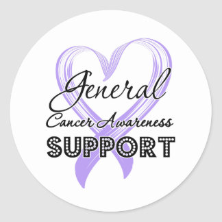 Support General Cancer Awareness Classic Round Sticker