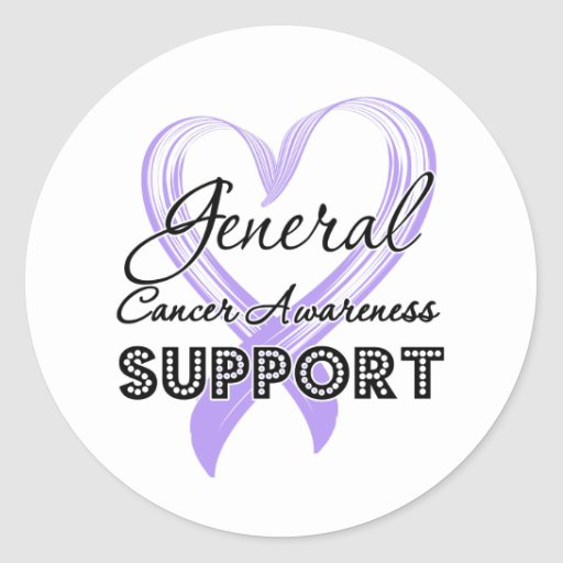 Support General Cancer Awareness Round Stickers