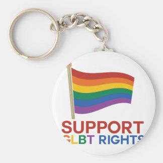 Support Glbt Rights Basic Round Button Keychain