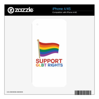 Support Glbt Rights iPhone 4S Decal