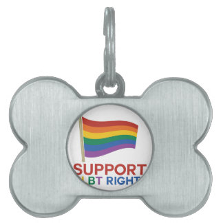 Support Glbt Rights Pet ID Tags