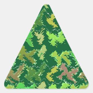 Support Green - Deep Jungle Art by Navin Triangle Sticker