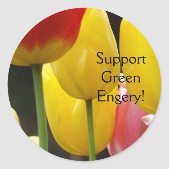 Support Green Energy! stickers Tulip Flowers Flora