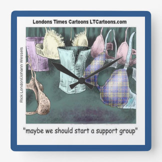 Support Group Funny Rick London Wall Clock