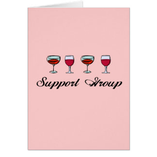 Support Group Wine Glasses Greeting Card