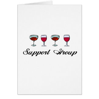 Support Group Wine Glasses Cards