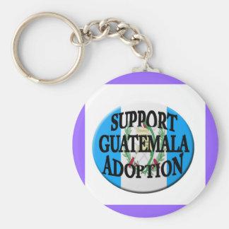 support guatemala adoption key chain