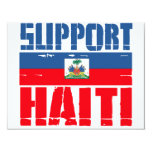 Support Haiti 4.25x5.5 Paper Invitation Card