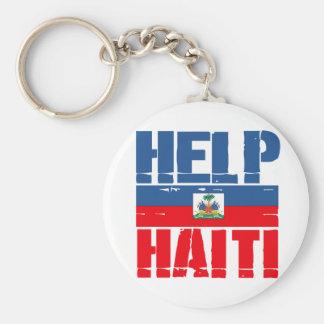 SUPPORT HAITI BASIC ROUND BUTTON KEYCHAIN