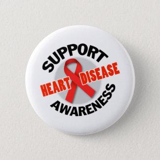 Support Heart Disease Awareness Seal Pinback Button