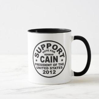 Support Herman Cain 2012 Mug
