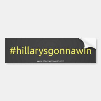 Support hillary clinton bumper sticker