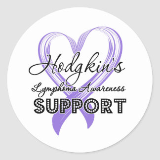 Support Hodgkin's Lymphoma Awareness Round Sticker