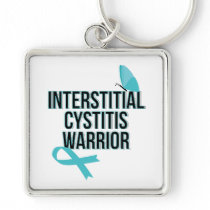 Support Interstitial Cystitis Awareness War Keychain