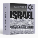 Support Israel 3 Ring Binders