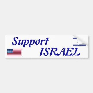 Support Israel Bumper Sticker Car Bumper Sticker