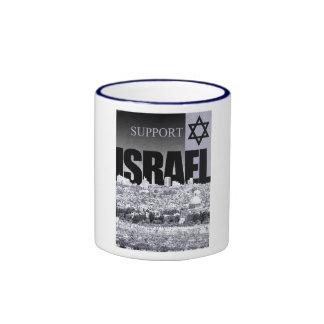 Support Israel Ringer Coffee Mug