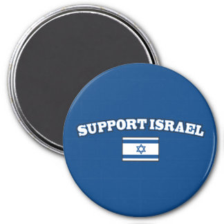 Support Israel with Flag 3 Inch Round Magnet