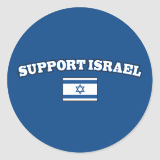 Support Israel with Flag Classic Round Sticker