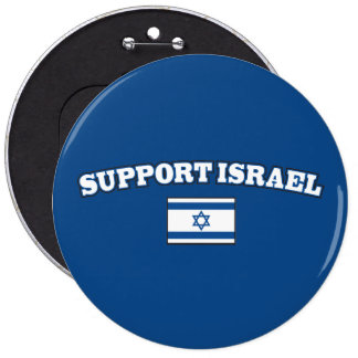 Support Israel with Flag Pinback Button
