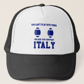 Support Italy Rugby T Shirt Trucker Hat