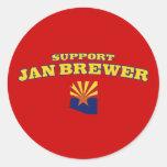 Support Jan Brewer Sticker