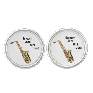 Support Jazz Cuff Links Cufflinks