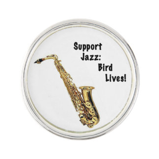 Support Jazz Lapel Pin