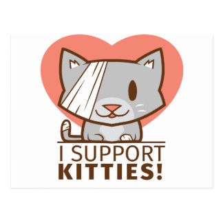 Support Kitty Postcard