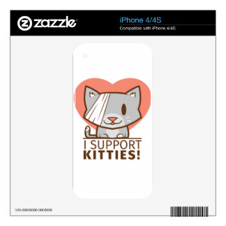 Support Kitty Skin For The iPhone 4S
