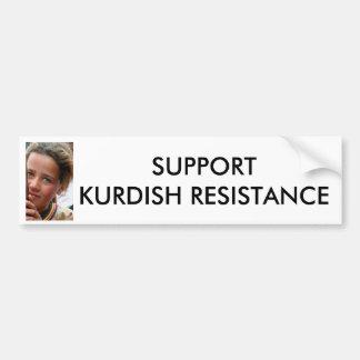 SUPPORT  KURDISH RESISTANCE BUMPER STICKER