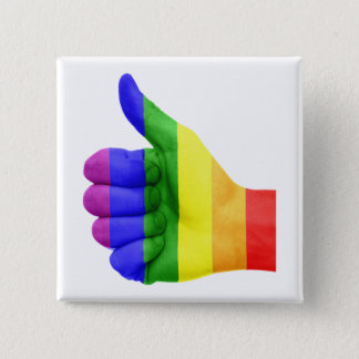 Support LGBT Gay Lesbian Pride Rainbow Button