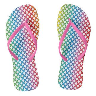 Support LGBT Gay Lesbian Pride Rainbow Flip Flops