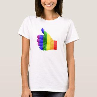 Support LGBT Gay Lesbian Pride Rainbow Shirt