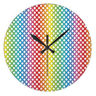Support LGBT Gay Lesbian Pride Rainbow Wallclock