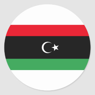 Support Libya to be Free Classic Round Sticker